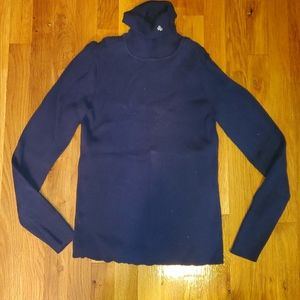 Womens Ralph Lauren turtle neck navy blue